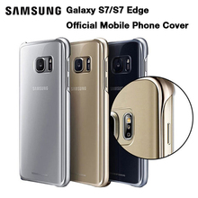 цена на Samsung Official Mobile Phone Cover For Samsung Galaxy S7 S7 Edge Transparent protective shell Ultra Slim Back Protective Case