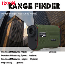 Cheap price Free 1200A Style  Speed Range Angel Height Multfunction 1200M Measuring Range  Laser Range Finder For Hunting OS28-0021