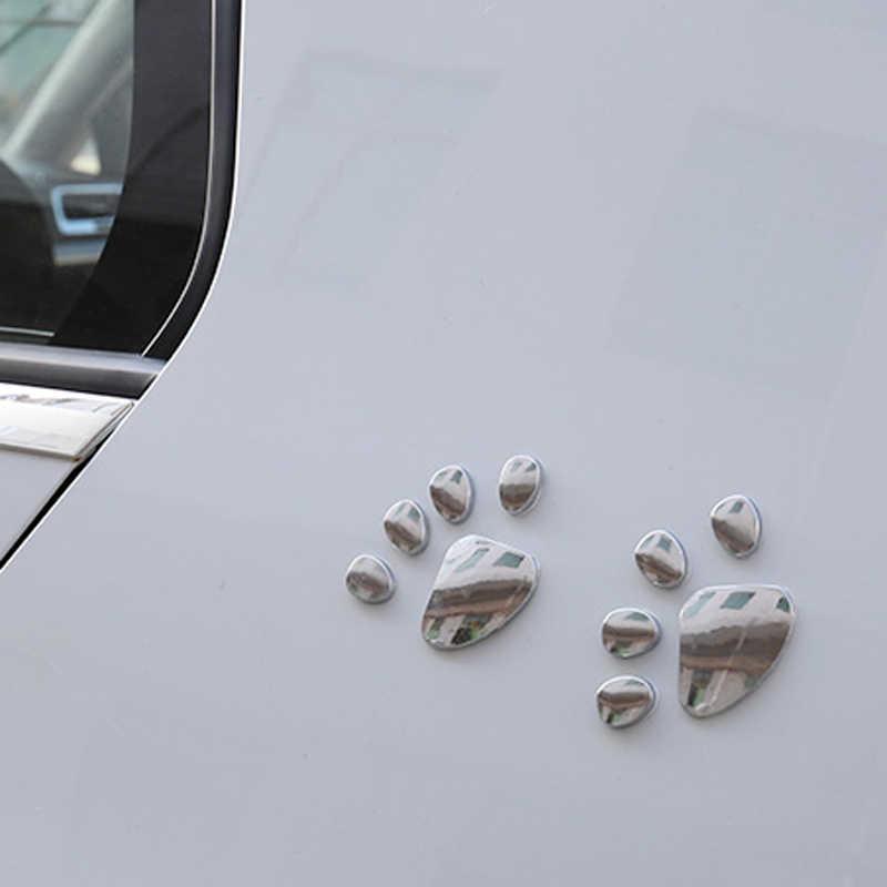 2 Pcs רכב מדבקות 3D מתכת דוב Paw סטיילינג עבור סיטרואן C4 C5 פורד kuga אאודי A4 B6 B7 B8 a3 A6 C6 Q5 פיג 'ו 207 307 206
