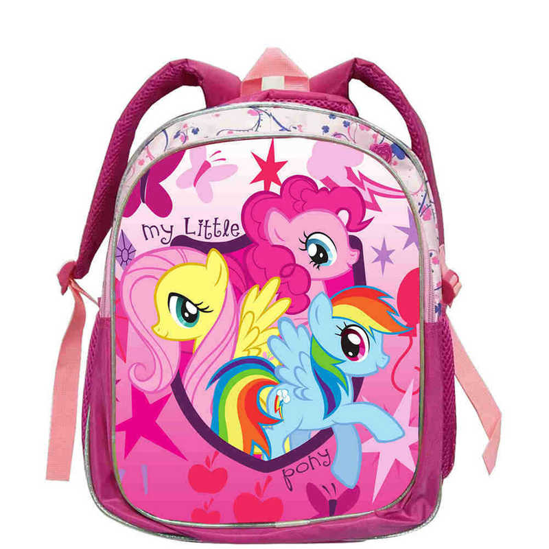 Fashion Cute School Bags For Teenagers Girls Pony Horse Twilight Sparkle Backpack Kids SchoolBags Children Mochila
