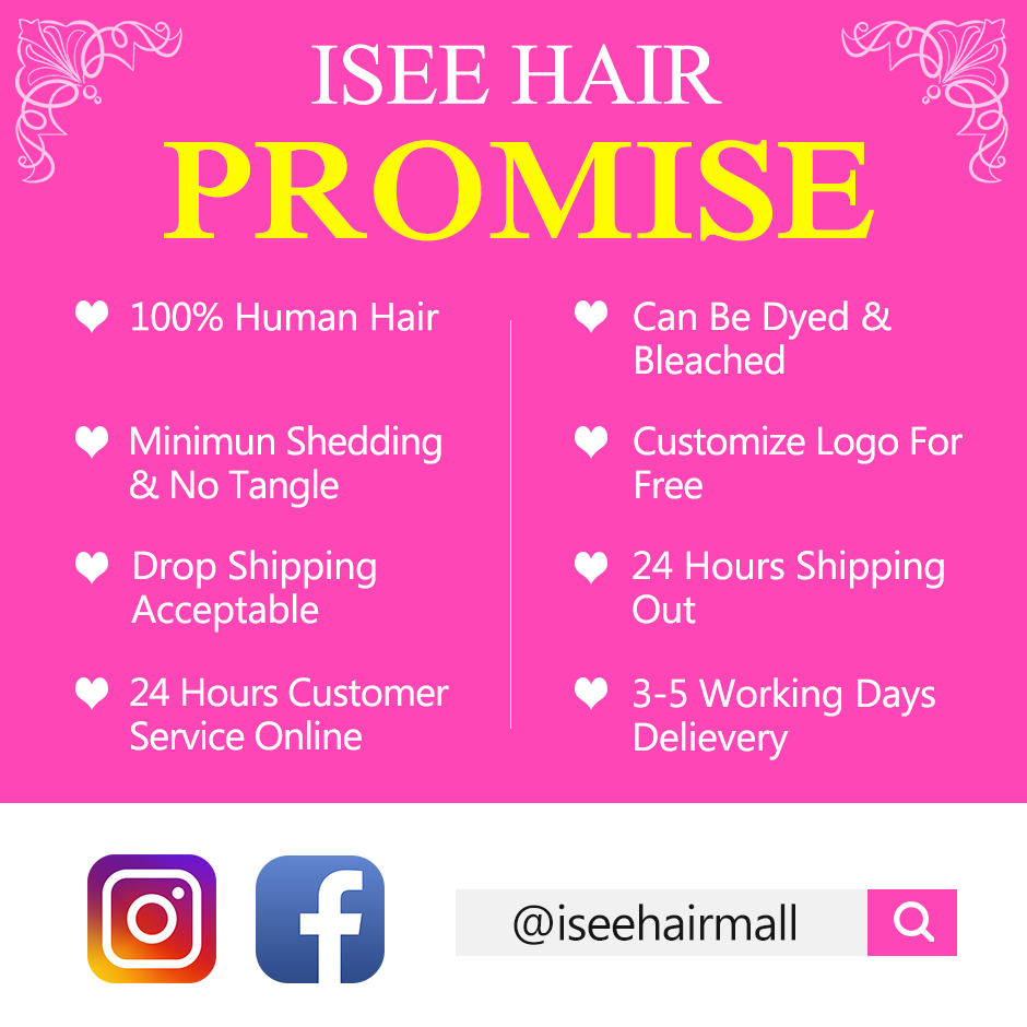ISEE HAIR Human Hair Bundles With Frontal 13*4 Pre Plucked Lace Frontal Remy Peruvian Deep Wave Bundles With Frontal