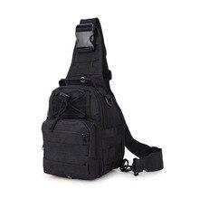 Fishing Bag Mutipurpose Fishing Bucket Bag Camping Hiking Bag Tactical Chest Pack For Fly Fishing Shoulder Sports Bag 14*9*24CM