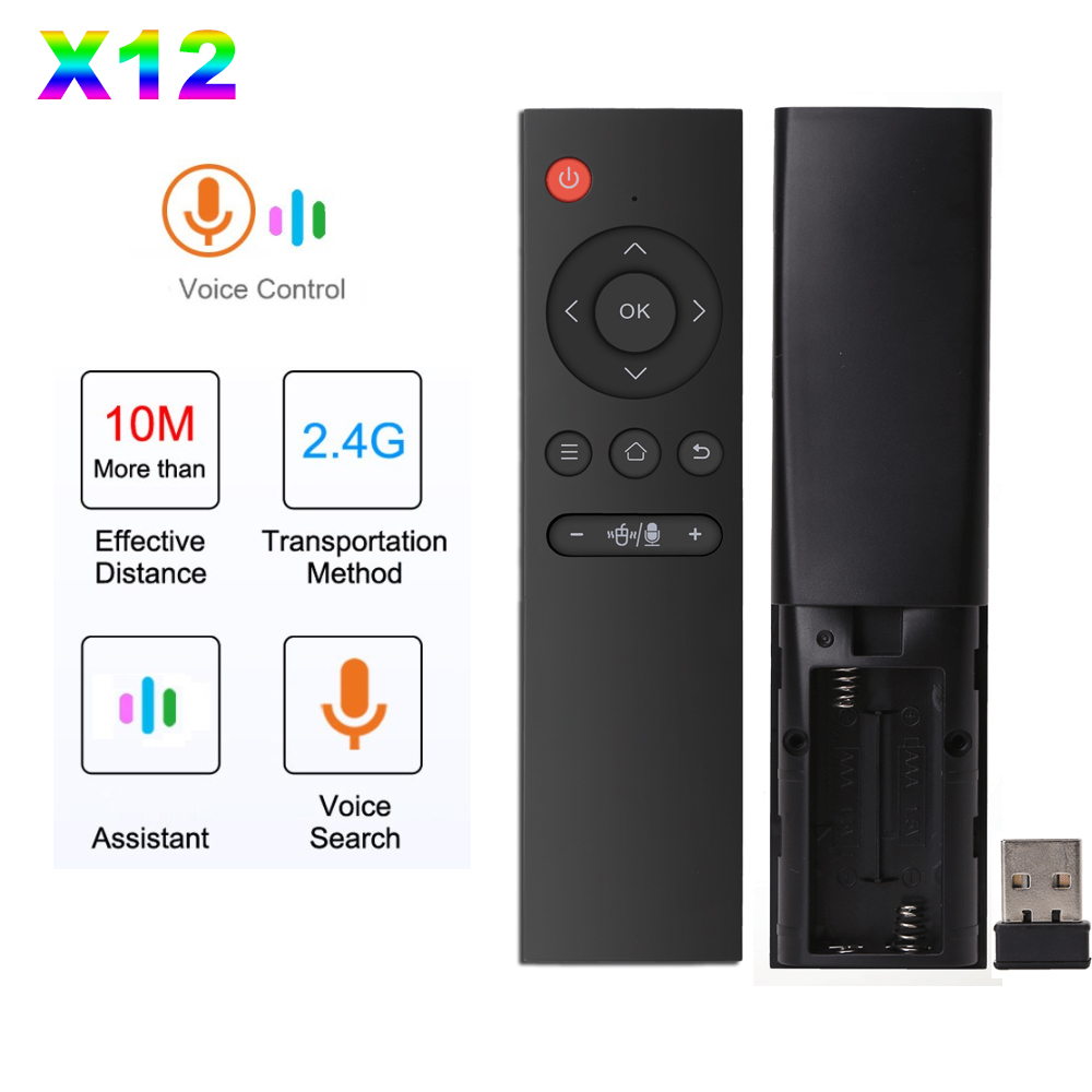 X12 Voice Air Mouse 2.4GHz Remote control Wireless Universal gyro Remote Control for Android TV Box mini PC Smart Projector IR