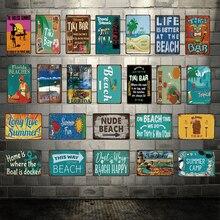 [ Kelly66 ] Welcome To The TIKI BAR  ALOHA Summer Camp Metal Sign Tin Poster Home Decor Bar Wall Art Painting 20*30 CM Size Dy66 print bar aloha