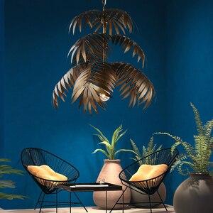 Image 5 - لوفت الحديثة شجرة جوز الهند نجفة مزودة بإضاءات ليد E27 الصناعية الإبداعية مصباح معلق لغرفة المعيشة مطعم غرفة نوم اللوبي فندق