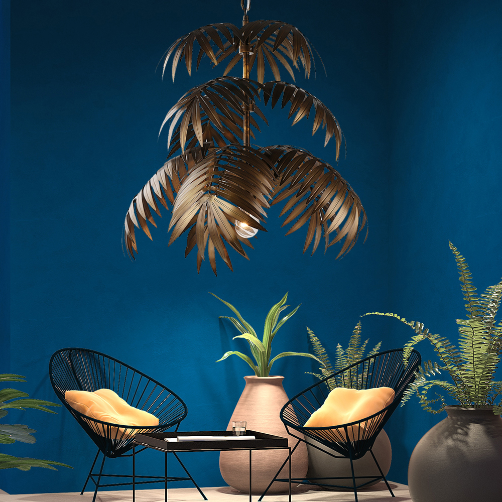 Image 5 - Loft modern coconut tree pendant light LED E27 industrial creative hanging lamp for living room restaurant bedroom lobby hotel-in Pendant Lights from Lights & Lighting