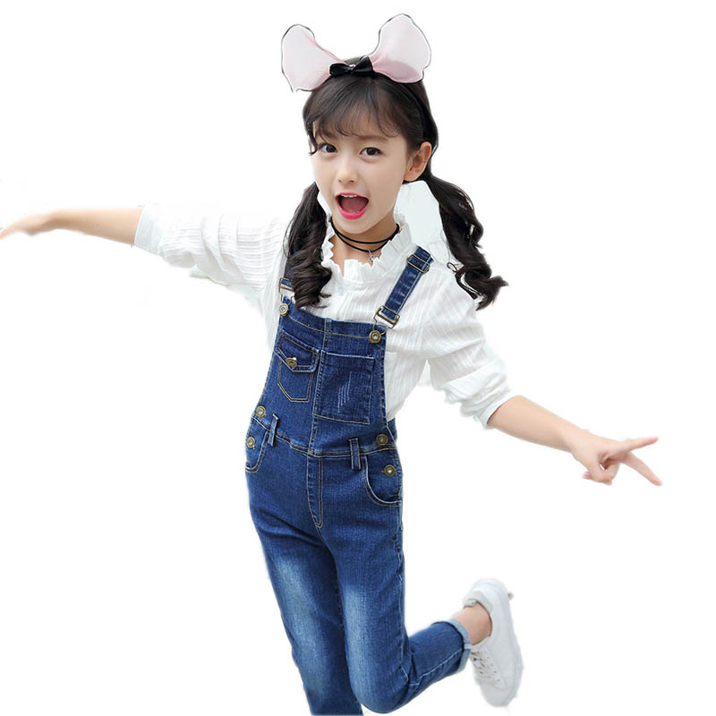 Kids Jeans Boys Girls Denim Overall Pants Casual Toddler Children Overall Jeans Girls Skinny Pants Broken Hole Child Clothes men skinny destroyed jeans