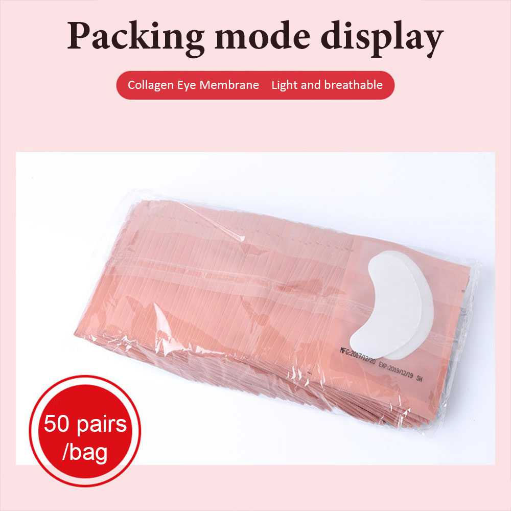 50 100 Eyelash Under Eye Pads Lint Free Patches For Eyelash Extension Supplies Lashes Extension For Professionals Tools in False Eyelashes from Beauty Health
