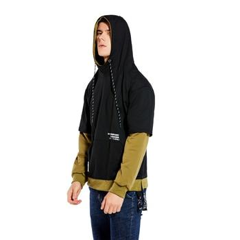 GURUNVANI Sweat /à capuche pour homme Imprim/é tie-dye
