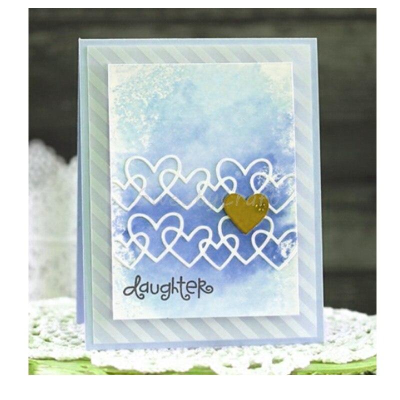 Stamps Dies Scrapbooking Linked Heart Metal Cutting Die Card Making Paper Decor Craft Die Cut New 2019 Embossing Stencils Paper in Cutting Dies from Home Garden