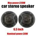 Un par de 6.5 pulgadas de altavoces del automóvil coaxial de audio del coche estéreo max power music 220 W apoyo función bass tweeter coche accesorio
