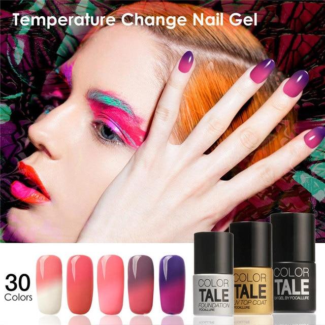 FOCALLURE Led Гель УФ Цвет Изменение Температуры Гель Лак Для Ногтей длительный Ногтей Гель 30 Цветов