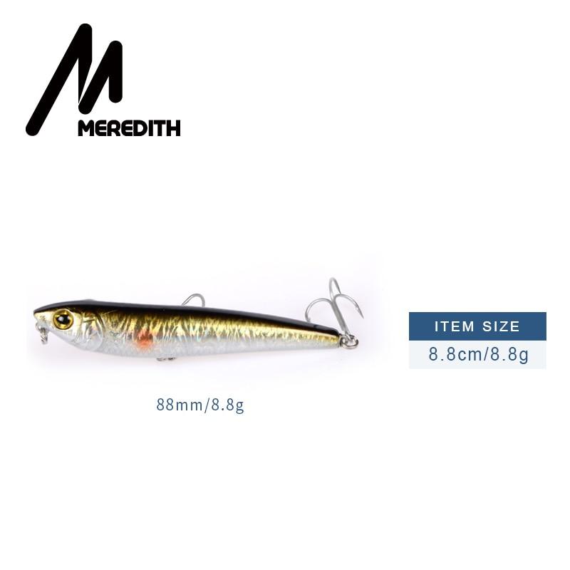MEREDITH 1 stks Combat Potlood Vissen Lokt 8.8 CM 8.8G wobblers Haken - Visvangst - Foto 3