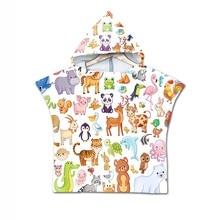 Baby Hooded Animal Bath Towel Children Kids Bathrobe Towels Bath Robe Quick Dry Absorbent Microfiber Travel Sports Beach Towel