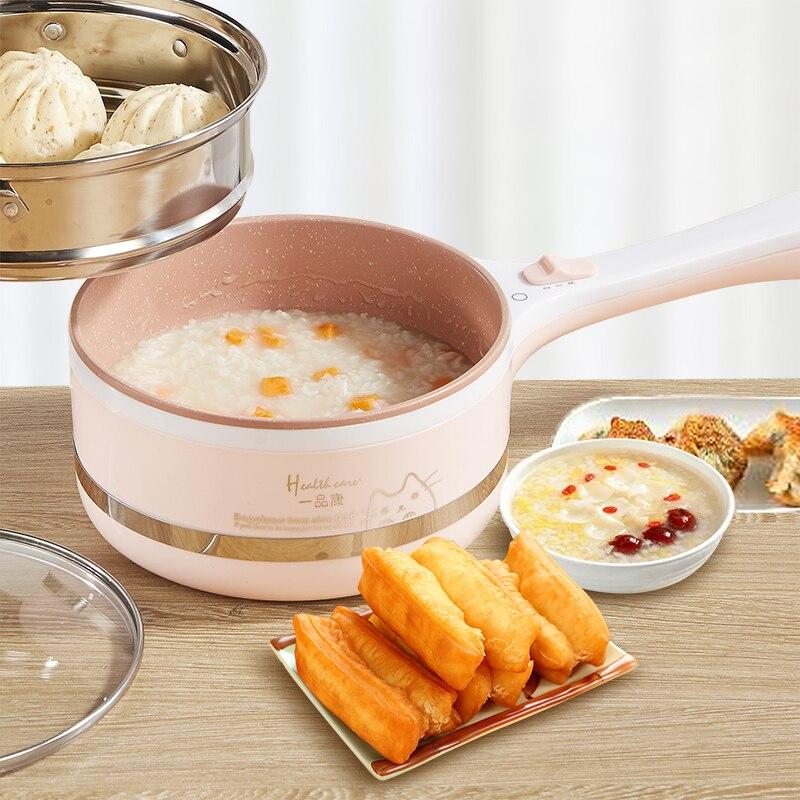Portable Mini Électrique Multi Cuisinière Dortoir Chaudière Mini Électrique Hot Pot Cuisinière Mini Vapeur Poêle Cuiseur À Riz Porridge