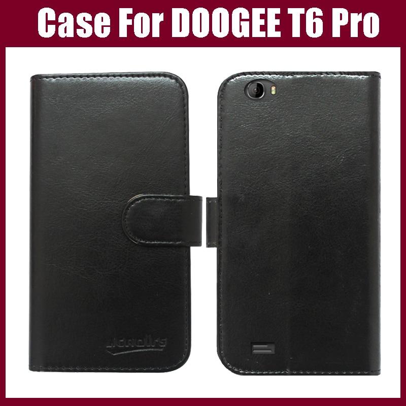 Pouzdro DOOGEE T6 Pro Nový přírůstek 6 barev Vysoce kvalitní Flip Leather Pouzdro na telefon exkluzivní pro Pouzdro DOOGEE T6 Pro