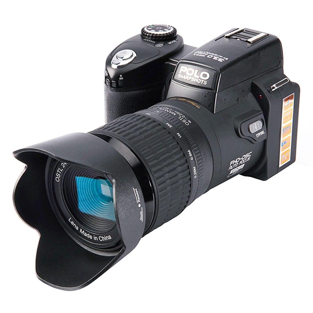 Camera ELRVIKE HD Digital Camera POLO D7100 33Million Pixel Auto Focus Professional SLR Video Camera 24X Optical Zoom Three Lens