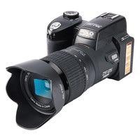 Jozqa HD поло D7100 цифровой Камера 33 млн пикселей автофокусом Профессиональная зеркальная видео Камера 24x Оптический зум три объектива