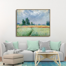 Laeacco Graffiti Green Wall Artwork Farmland Posters and Prints Vintage Canvas Painting Nordic Home Decoration Living Room Decor
