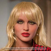 WMDOLL New Lifelike silicone sex doll head for oral sex real love adult dolls sex toy for men