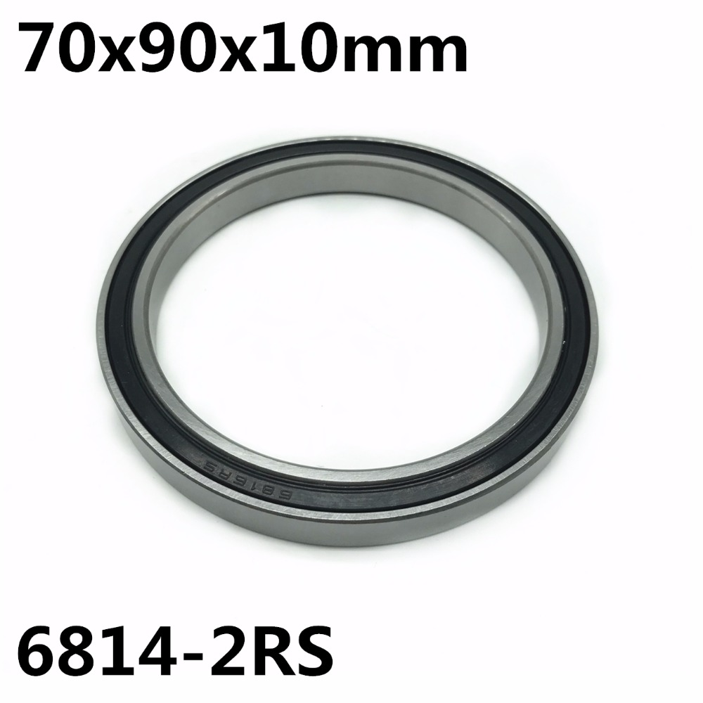 1pcs 6814-2RS 70x90x10 Mm The High Quality Of Ultra-thin Deep Groove Ball Bearings 6814RS 6814