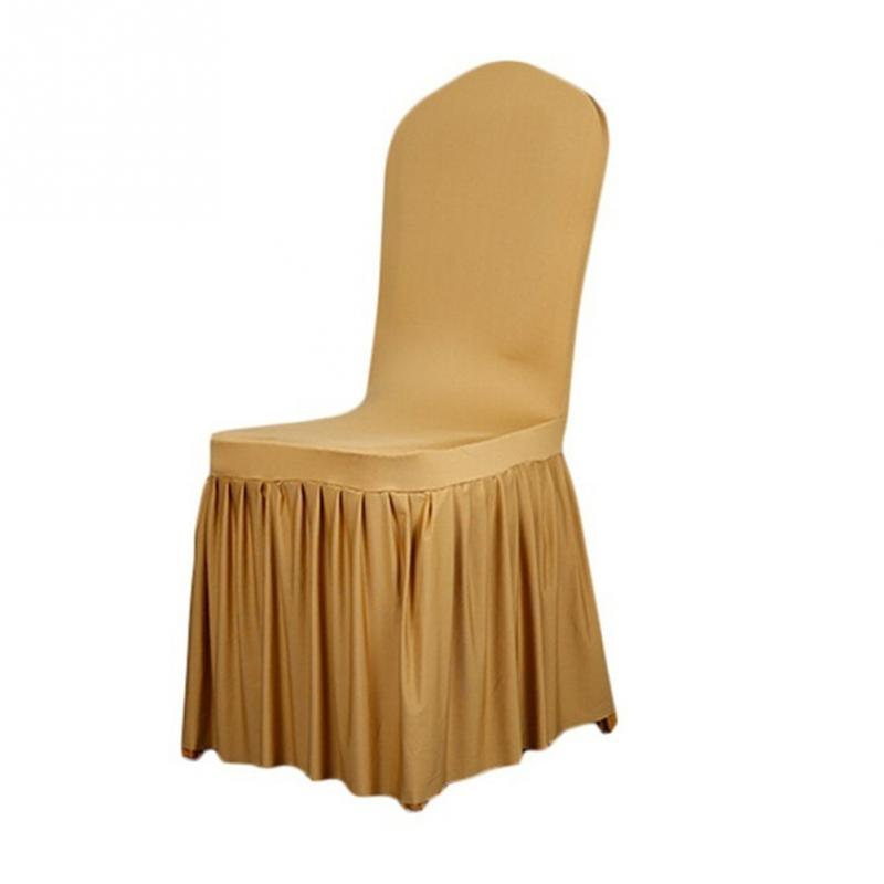 Pleated Skirt Patterns Elastic Chair Cover Wedding Party Dining Room Covershome Decor