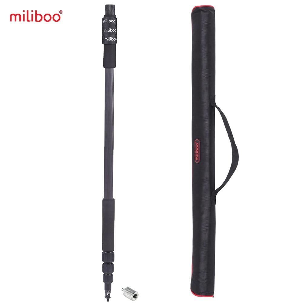 Miliboo MLZ901 Профессиональный Портативный Углеродного Волокна 4-раздел Микрофон Полюс Вспышка Света Держатель Микрофоном Максимальная Длина 300 см