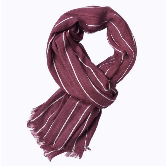 Men Striped Scarf Mawgie