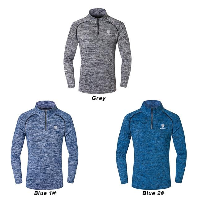 NEW Sport Men Quick Dry T-shirt Long Sleeve 4