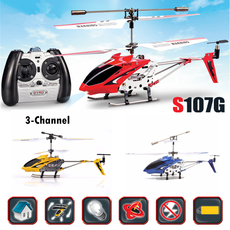 new rc helicopter S107G 3CH Metal Infrared rc Remote Control Helicopter Alloy Copter with Gyroscope remote control aircraft gift mini drone rc helicopter quadrocopter headless model drons remote control toys for kids dron copter vs jjrc h36 rc drone hobbies