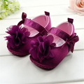Baby Shoes Sweet Purple Flower Girl Shoes Baby Soft Bottom Princess First Walkers