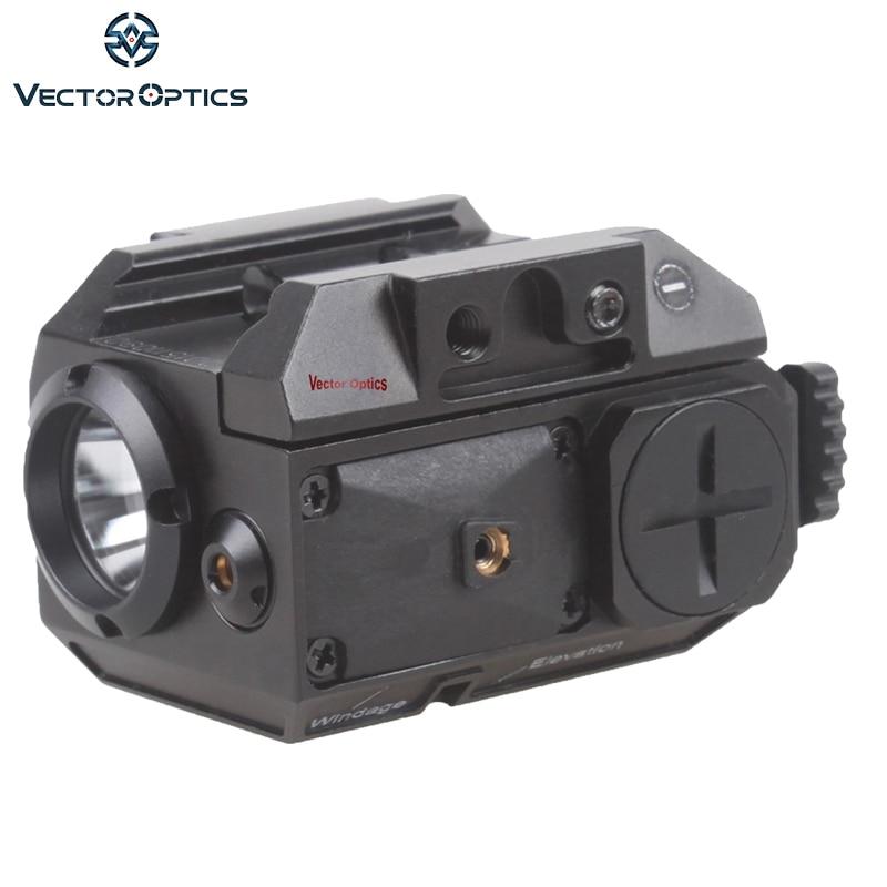 Vector Optics Blackout Tactique Pistolet Arme lampe de Poche avec Laser Vert Dot Sight fit 20mm Weaver Rail pour Glock 17 19