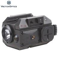 Vector Optics Blackout Tactische Pistool Pistool Wapen Zaklamp met Groene Laser Dot Sight fit 20mm Weaver Rail voor Glock 17 19