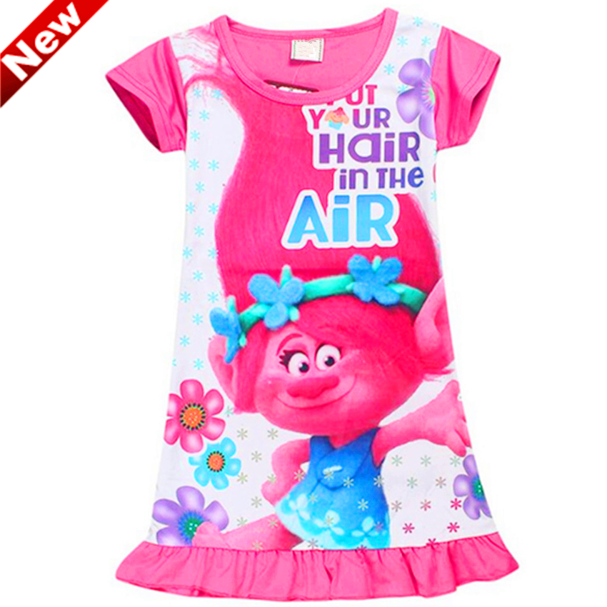 Robe Fille Girl Dress Trolls Dresses For Girls Flower Vestidos Mujer 10 years BY6 набор азбука тойс морское царство м 0016