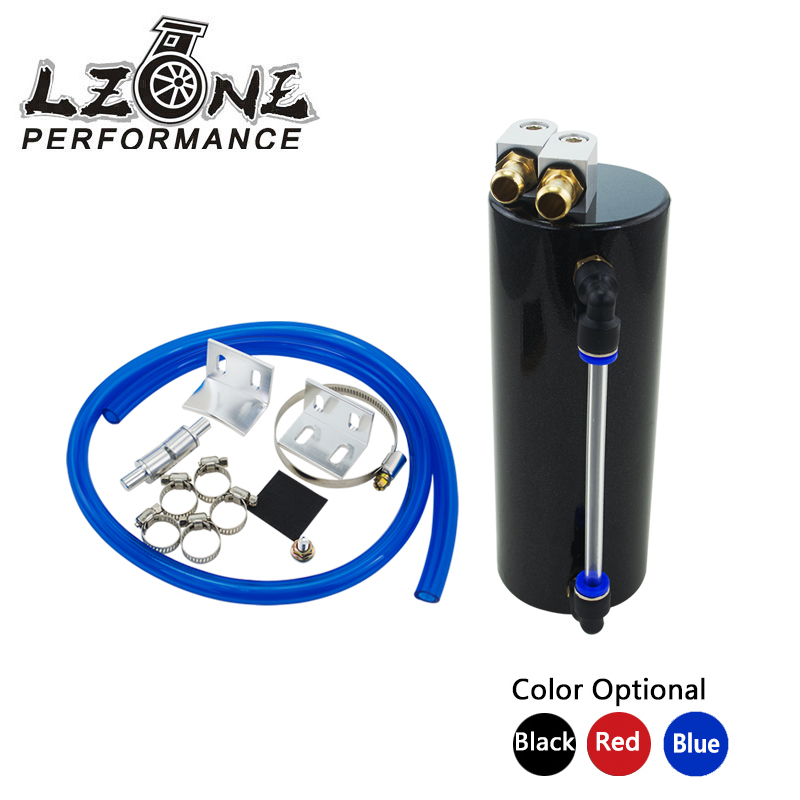 LZONE RACING - Universal Aluminum Racing Oil Catch Tank/CAN Round Can Reservoir Turbo Oil Catch can / Can Catch Tank JR-TK62 lzone racing black aluminium fuel surge tank with cap foam inside fuel cell 40l without sensor jr tk21bk