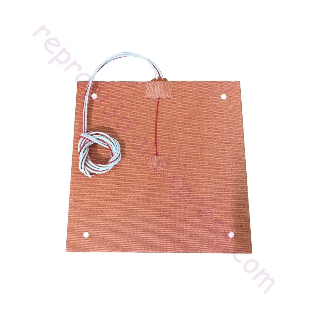 Usa material! CR10 calentador de silicona 310x310mm para creality CR-10 3D impresora cama W/agujeros, adhesivo + sensor