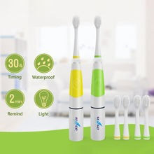 Seago SG-618 Children Electric Toothbrush With 3 Brush Head Intelligent LED Light Oral Dental Care Sonic Toothbrush