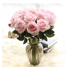 10pcs/lots Floral Rose Artificial Flowers Silk Wedding Bouquet Home Decor Party Bridesmaid