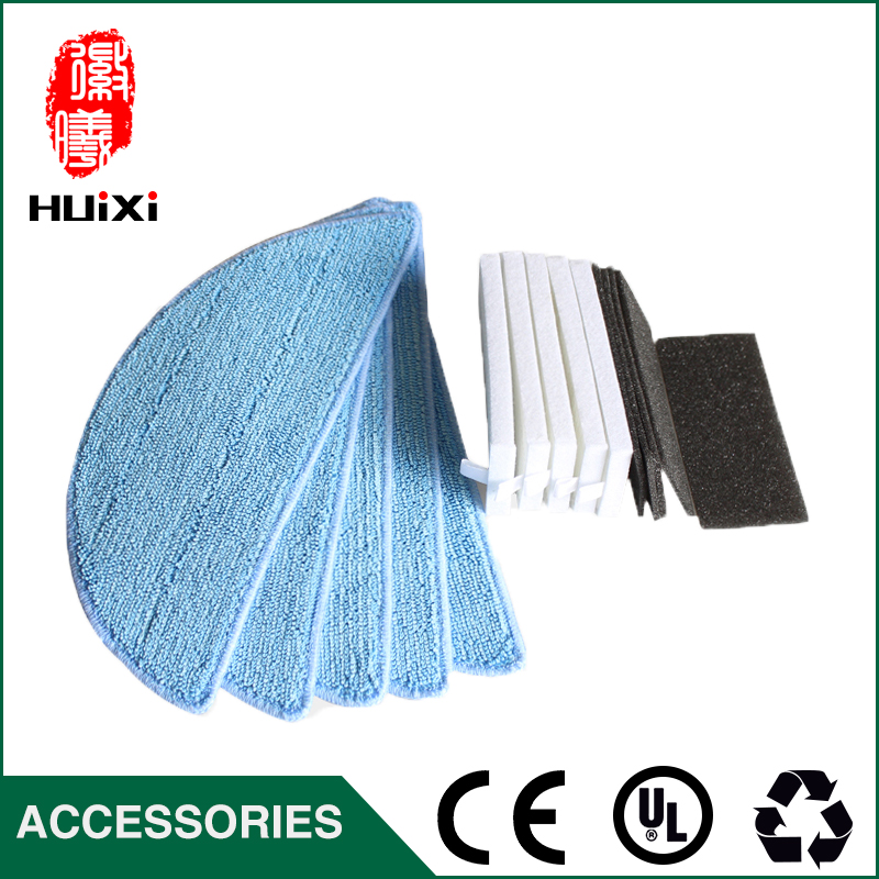 High-efficiency 5 pairs HEPA Filter & 5pcs Vacuum Cleaner Mopping Cloth Repalcement for DN621 DN621+ DN620 Vacuum Cleaner parts high efficiency 23 5
