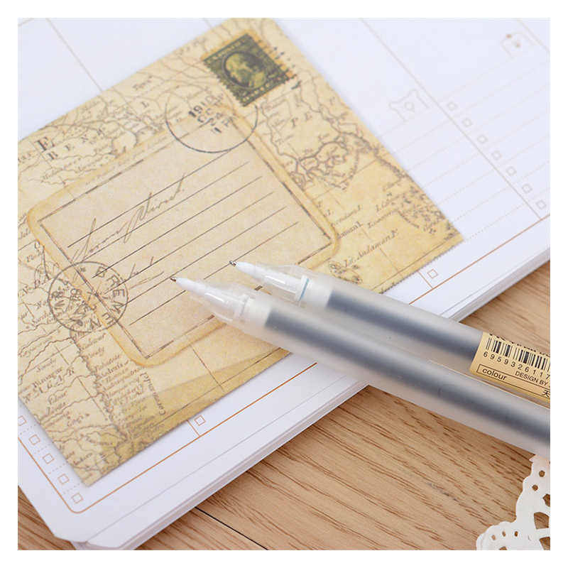 6 pz/lotto Creativo 6 Colori Penna Gel 0.5 millimetri di Colore Penne A Inchiostro Marcatore Penna di Colore Solido Chancellory Gel Pen Set