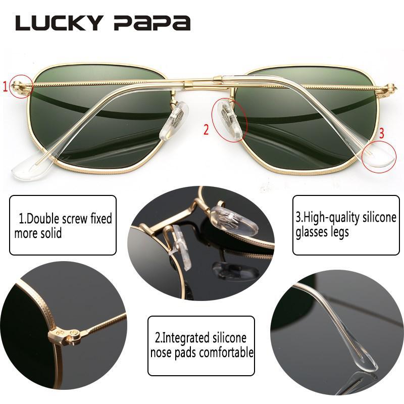 e542f43ad3d63 2018 NEW Classic Hexagonal Women Sunglasses Brand Designer Sun Glasses For  Female Male Mirror Glass Oculos De Sol with box 3548 -in Sunglasses from  Women s ...