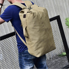 Large-capacity travel backpack Mens Outdoor sports bag Canvas shoulder male women bags  duffle