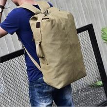купить Large-capacity travel backpack Men's backpack Outdoor travel sports bag Canvas shoulder bag male women travel bags  duffle bag дешево