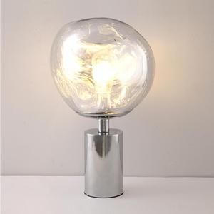 Image 4 - 現代ミニマリスト溶融 pvc ランプシェードテーブルランプ/フロアランプ lava 不規則なリビングルームの寝室のベッドサイドランプ照明 E27