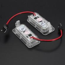 2 шт. светодиодный задний номер номерной знак свет лампа для освещения номерного знака яркий белый для Ford для Fiesta для Focus для Kuga для Mondeo