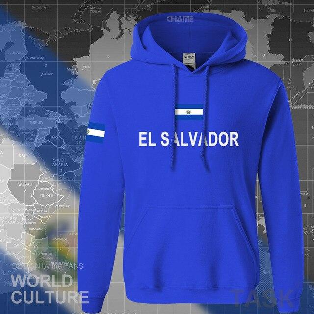 El Salvador Hoodies Sweatshirt Keringat Baru Hip Hop Streetwear Pakaian Latihan Yg Hangat Bangsa Pemain Sepak Bola Olahraga Negara Salvador SLV