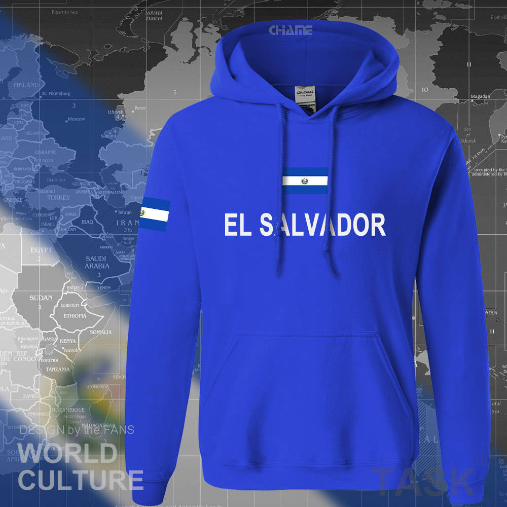 El Salvador Hoodies Men Sweatshirt Sweat New Hip Hop Streetwear Tracksuit Nation Footballer Sporting Country Salvadoran SLV