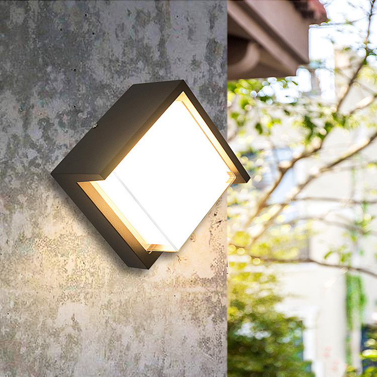 Outdoor Waterproof IP65 12w LED wall light lamp AC90-260V Aluminum Courtyard Garden Lights 18w led outdoor waterproof wall light ip65 modern nordic style indoor wall lamps living room porch garden lamp ac90 260v lp 42