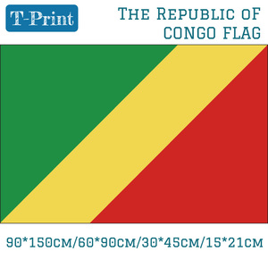 Promo The Republic Of Congo National Flag 90*150cm 60*90cm 15*21cm 30*45cm Car Flag For World Cup / National Day / Event / Office — iroyaaetetn