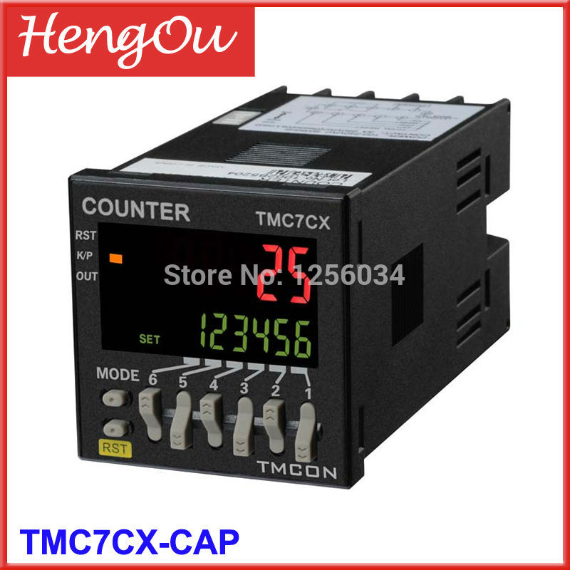 1 piece TMC7CX counter, 6 digits TMC7CX -CAP Preset counter, Electronic counter цена